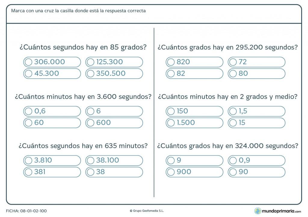 Ficha de medir ángulos para primaria