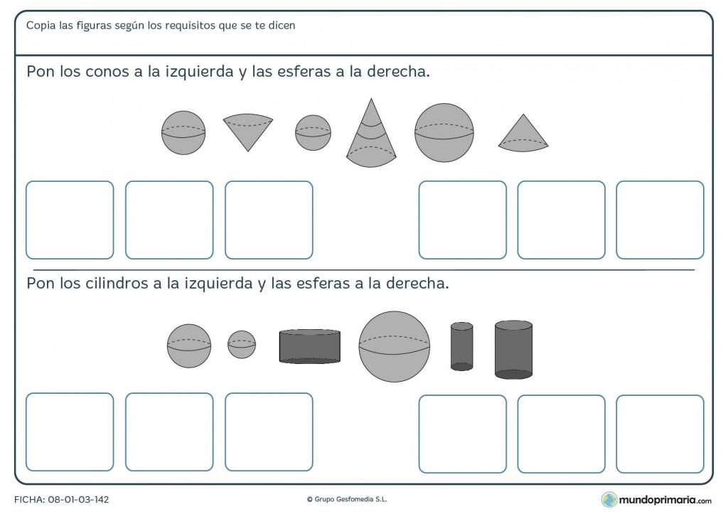 Ficha de ordenar cilindros para primaria