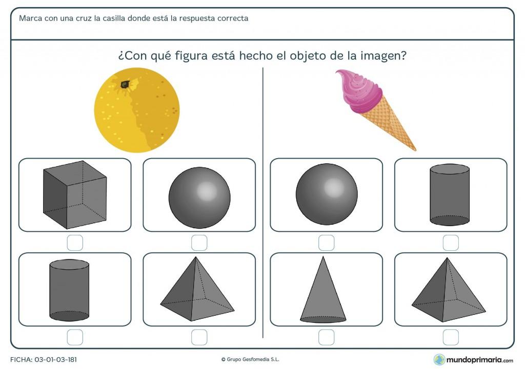 Ficha de pirámides para primaria