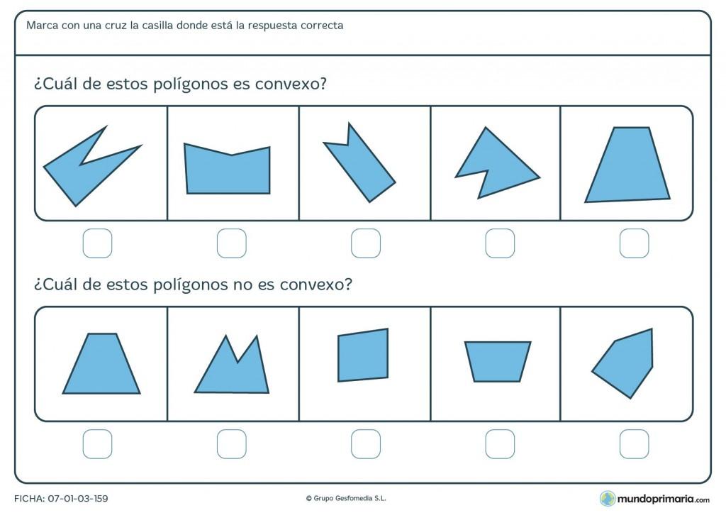 Ficha de polígonos convexos para primaria