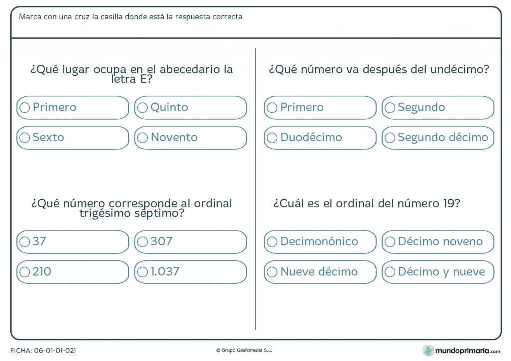 Ficha de posiciones de una letra para primaria