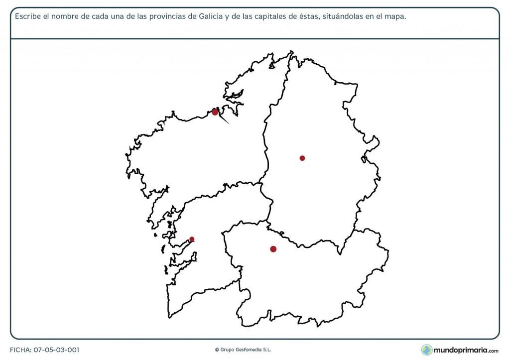 Ficha de provincias de Galicia para primaria