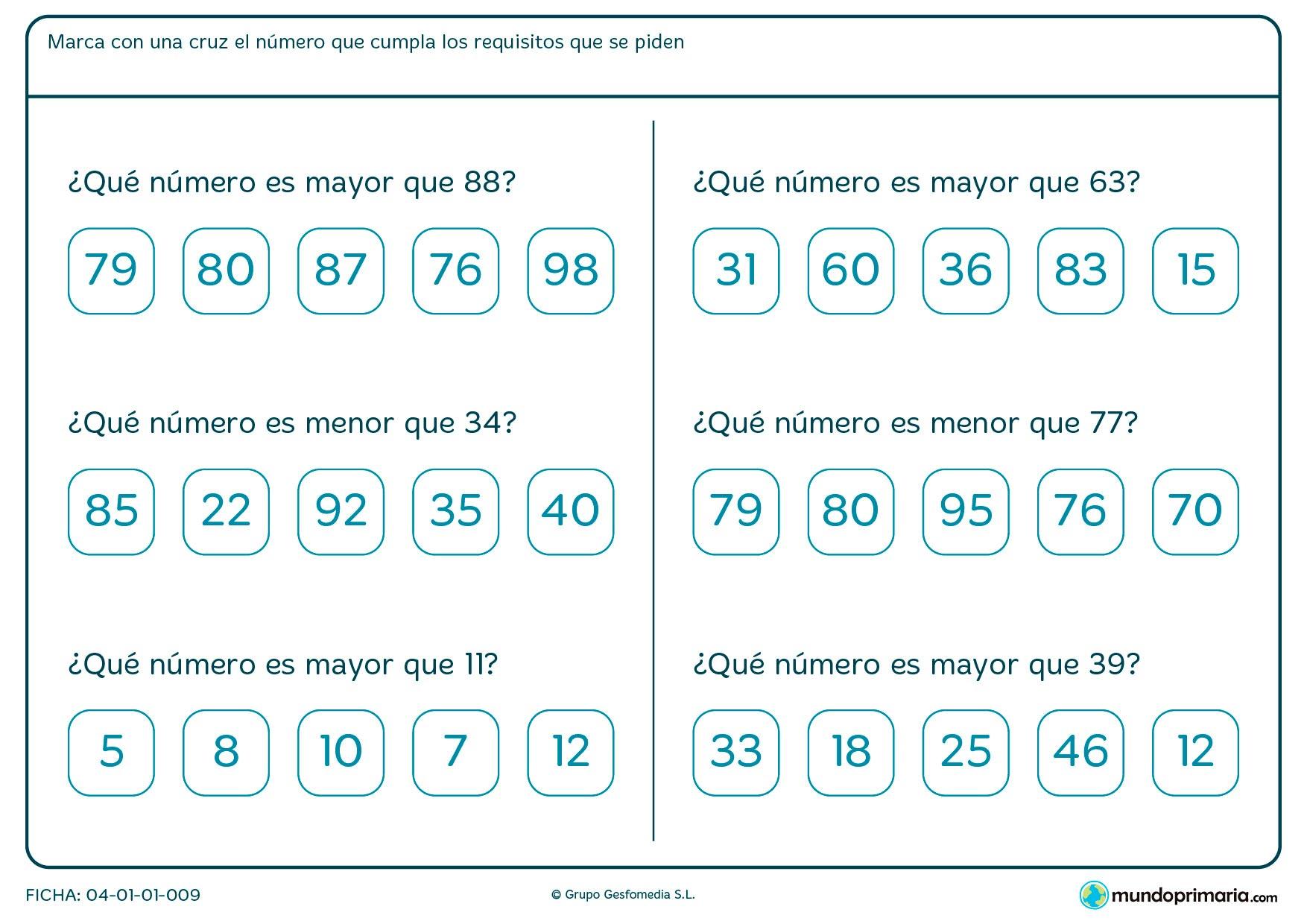 Números enteros ejercicios segundo primaria
