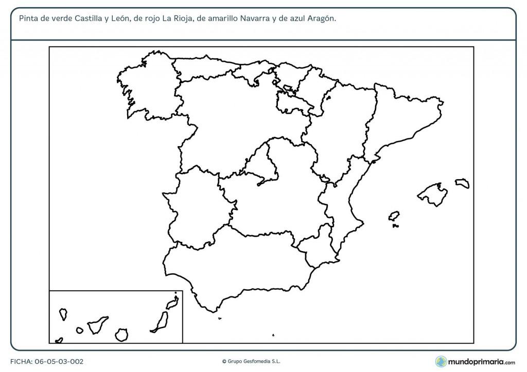 Ficha de regiones españolas para primaria