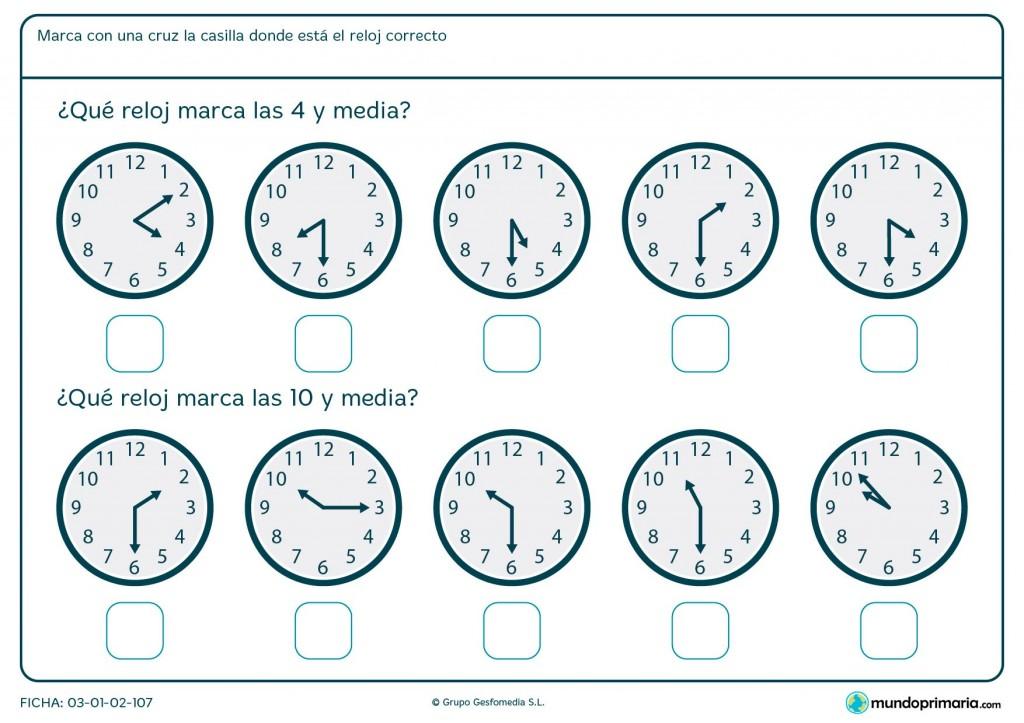 Ficha de reloj a y media