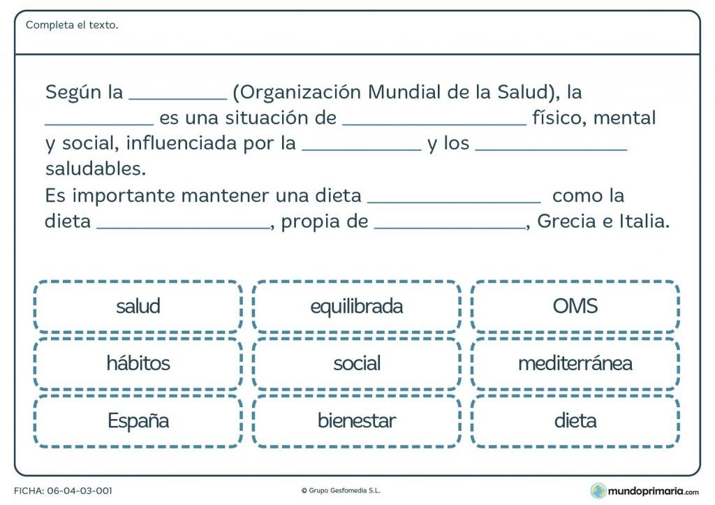 Ficha de salud para primaria