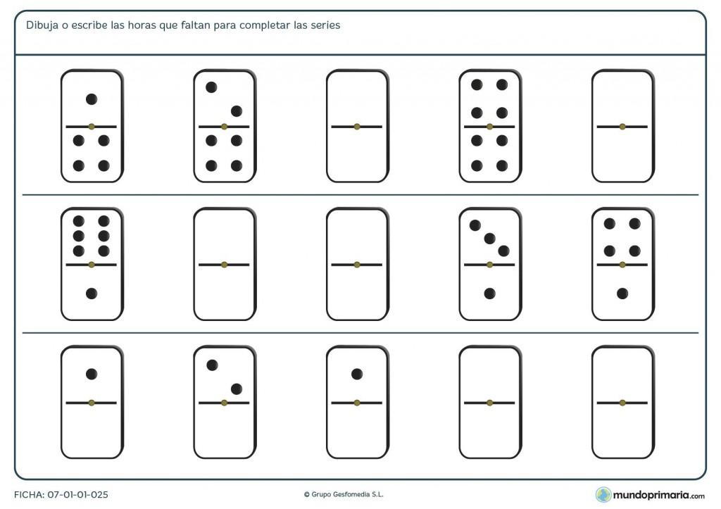 Ficha de series de fichas de dominó