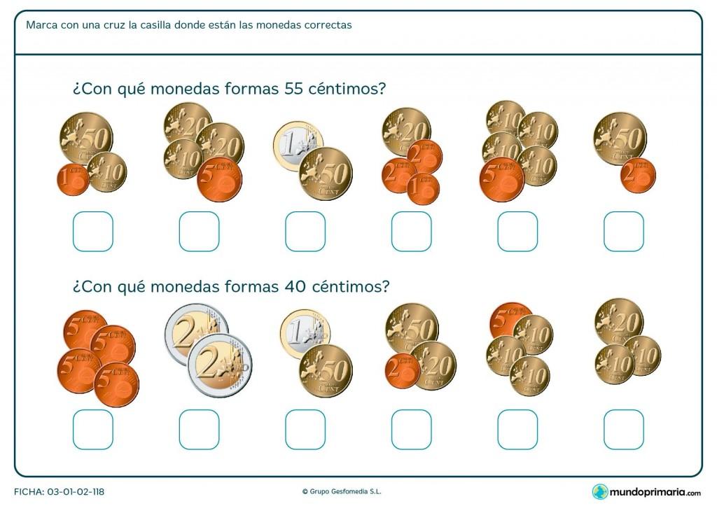 Ficha de sumar céntimos