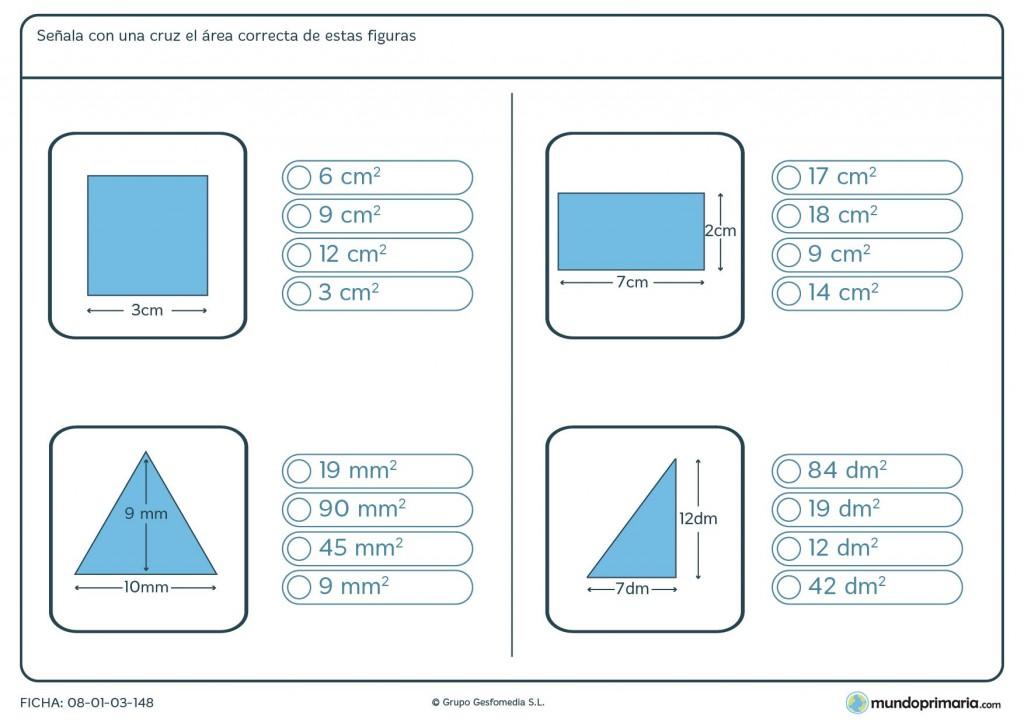 Ficha del área de figuras para primaria