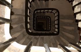 Escalera de caracol en el interior del Big Ben