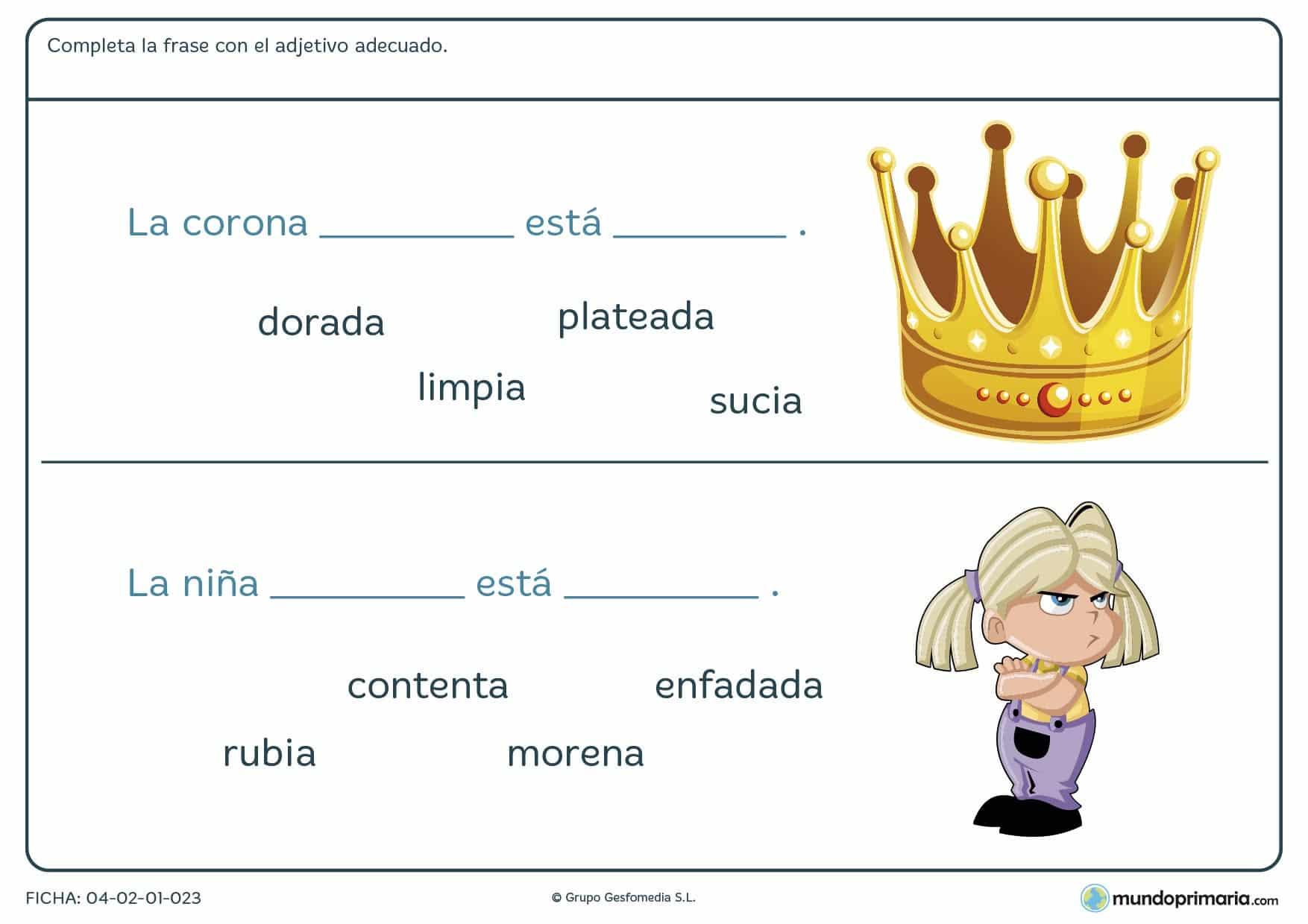 Ejercicios primaria gramática lengua segundo