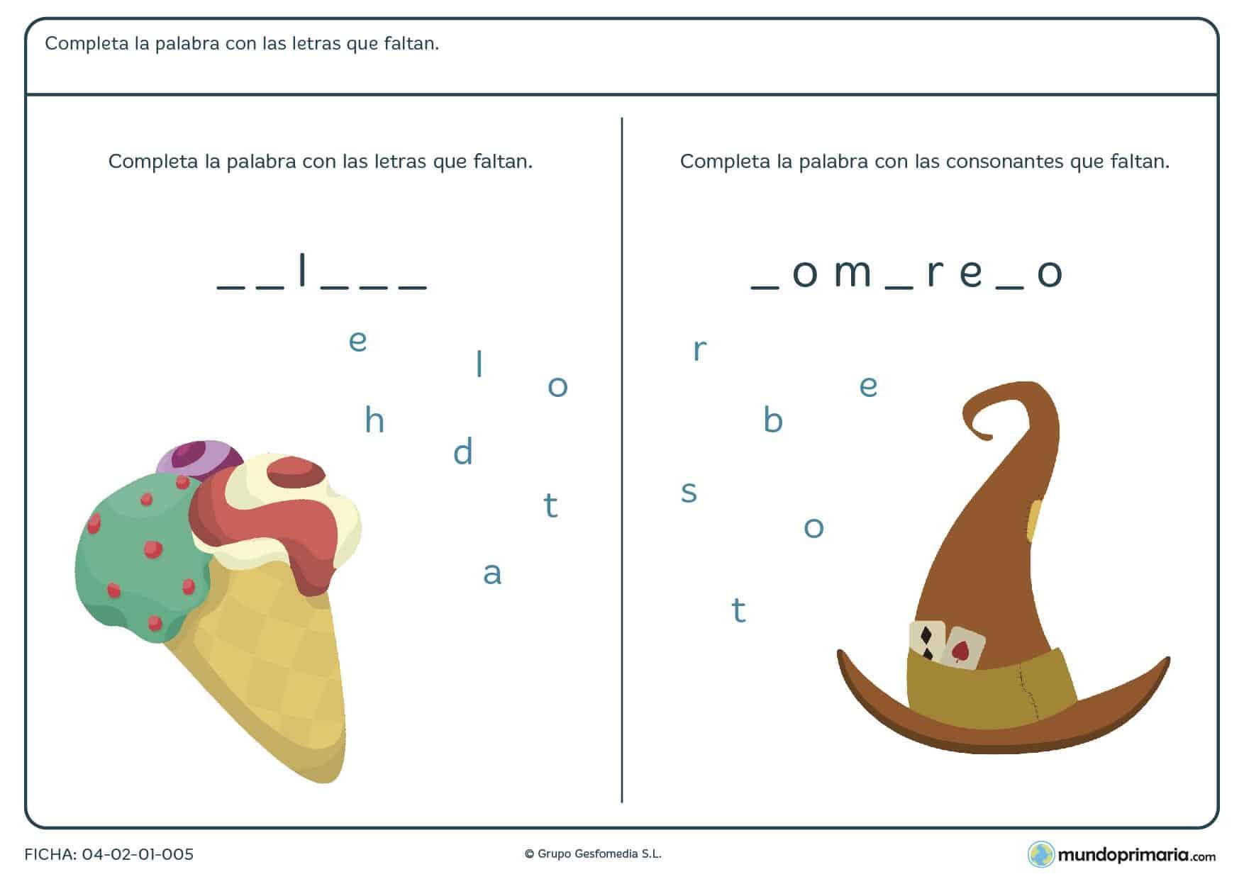 Gramática lengua ejercicios segundo primaria