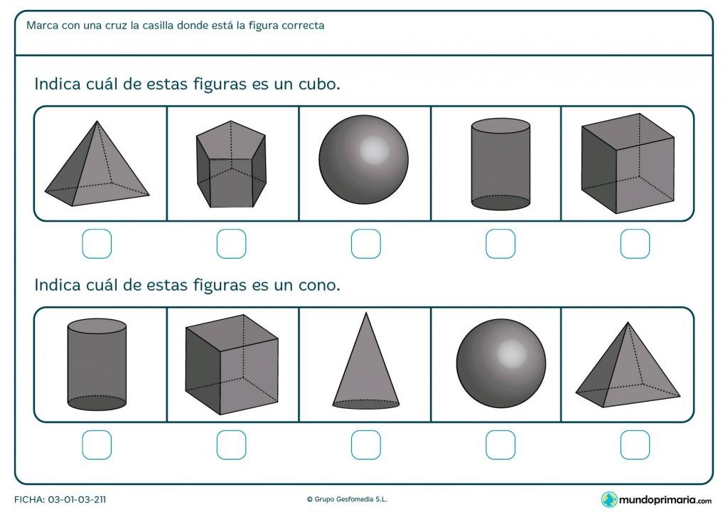 Ficha de cubos para primaria