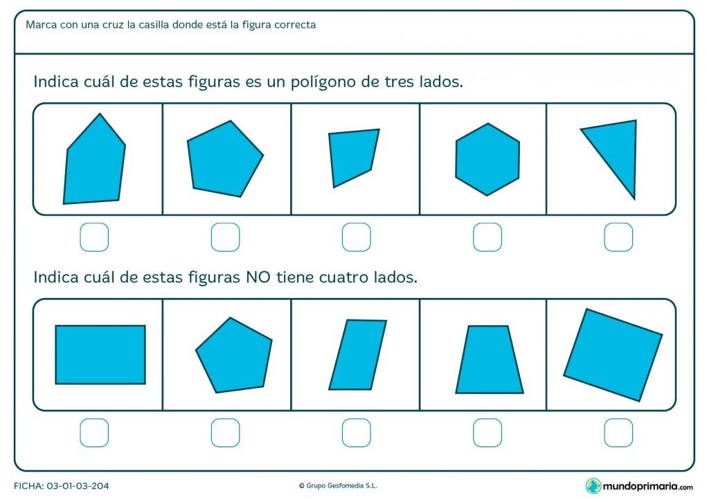 Ficha de imagen de cuatro lados para niños de 6 y 7 años