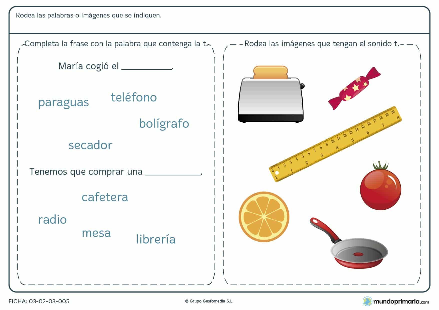 Lengua ortografía ejercicios primero primaria