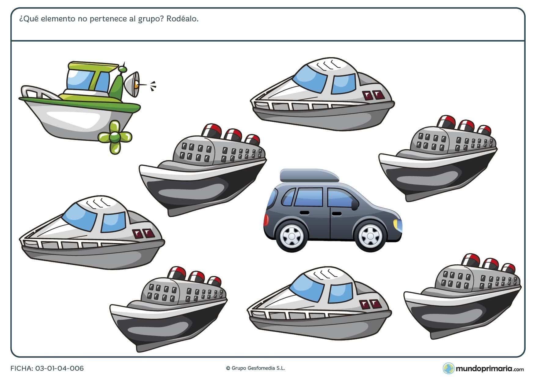 Ejercicios para niños de primaria en esta ficha de los tipos de transporte para practicar en casa
