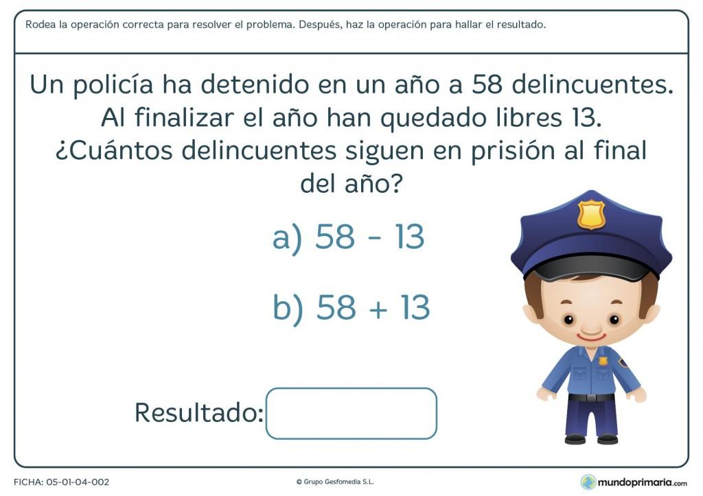 Ficha de resolver el enunciado correctamente para 8 a 9 años