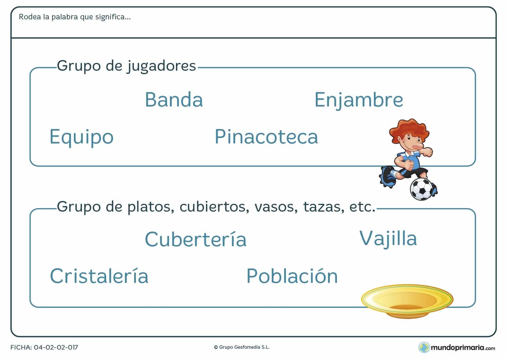 Lengua vocabulario segundo primaria