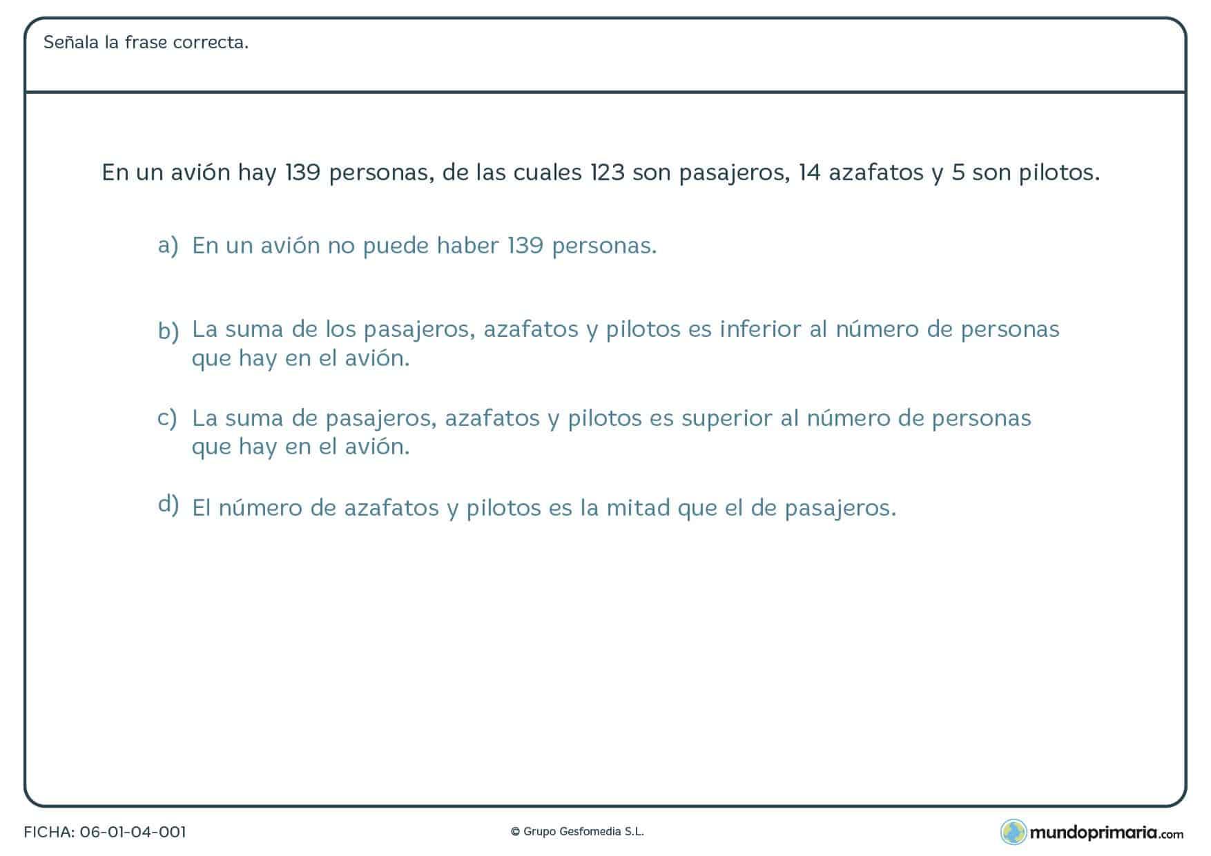Fichas | EJERCICIOS de MATEMÁTICAS para niños de primaria