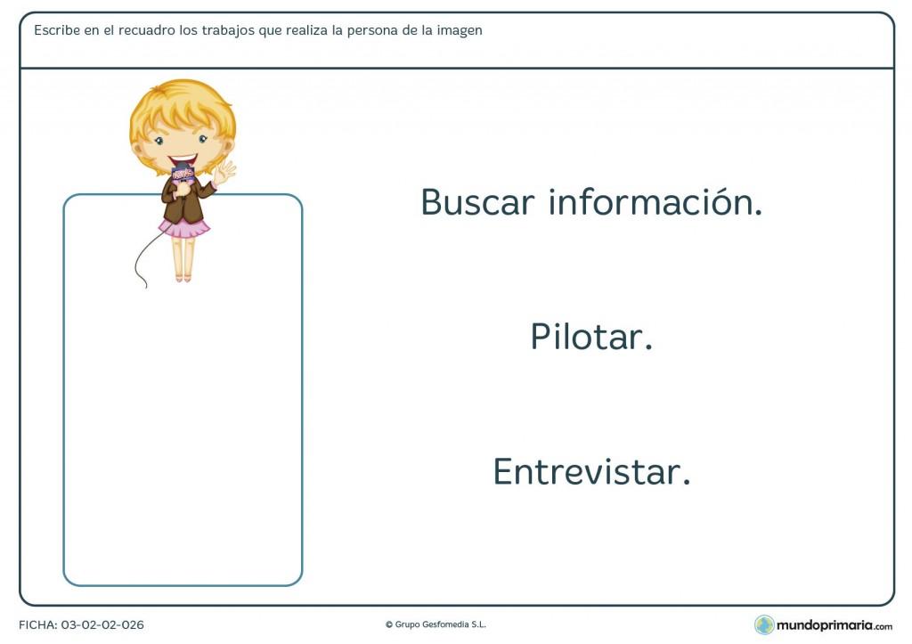 Ficha de trabajos y funciones para primaria