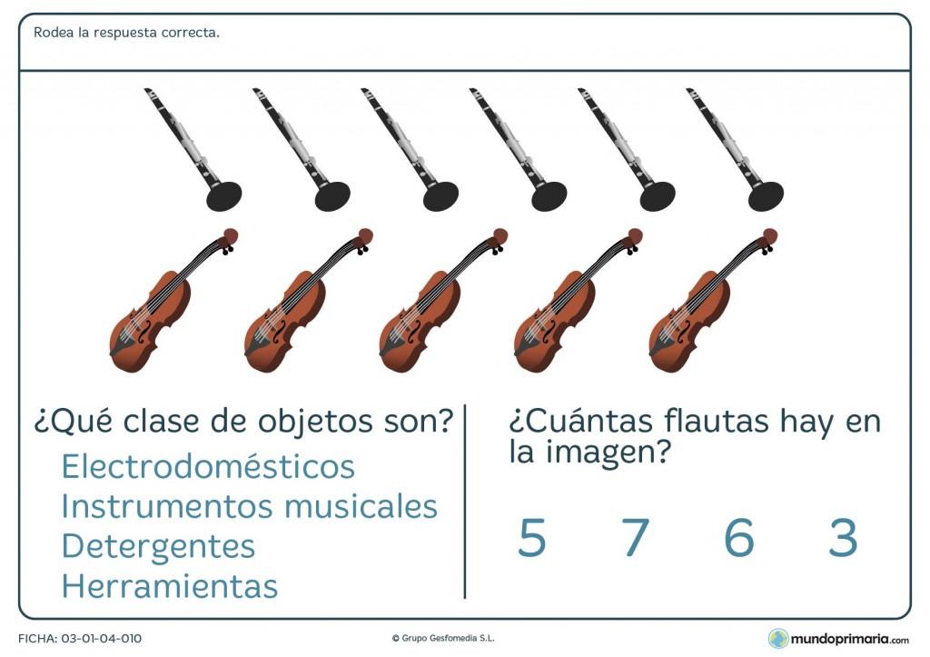 Ficha de varios objetos para primaria