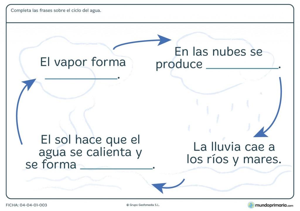 Ficha del ciclo del agua para primaria
