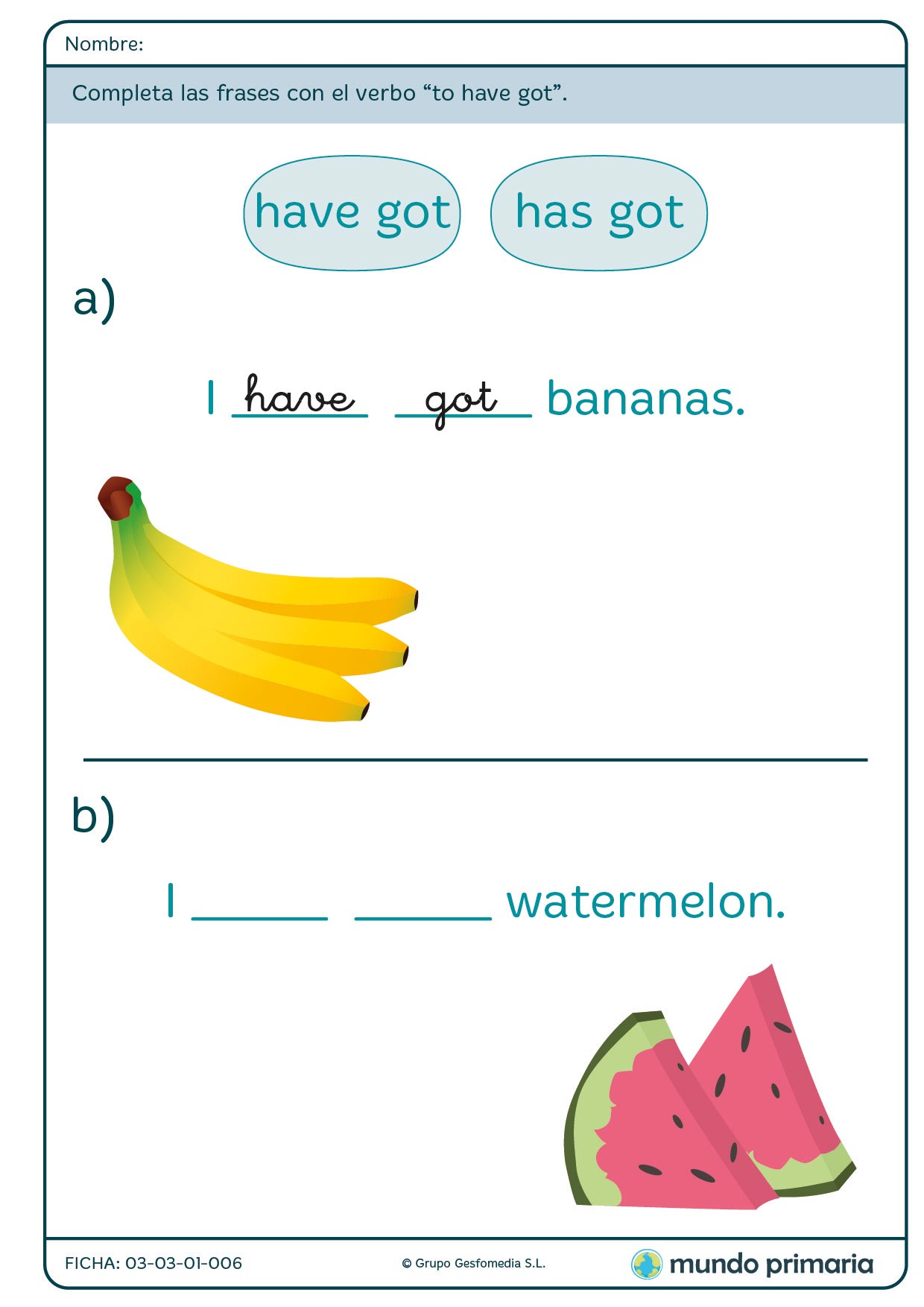 English exercise grammar