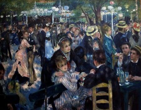 Baile en el Moulin de la Galette de Renoir