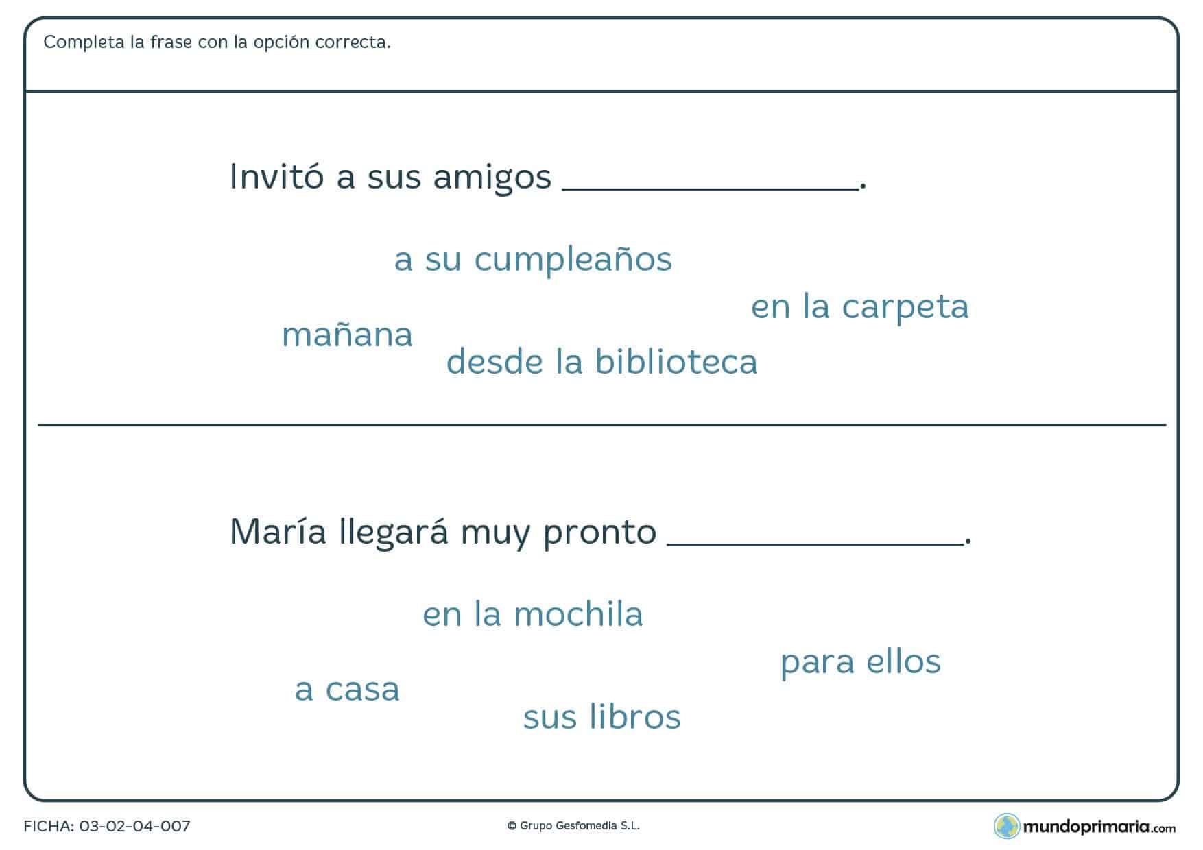comprensión lectora lengua ejercicios primero primaria
