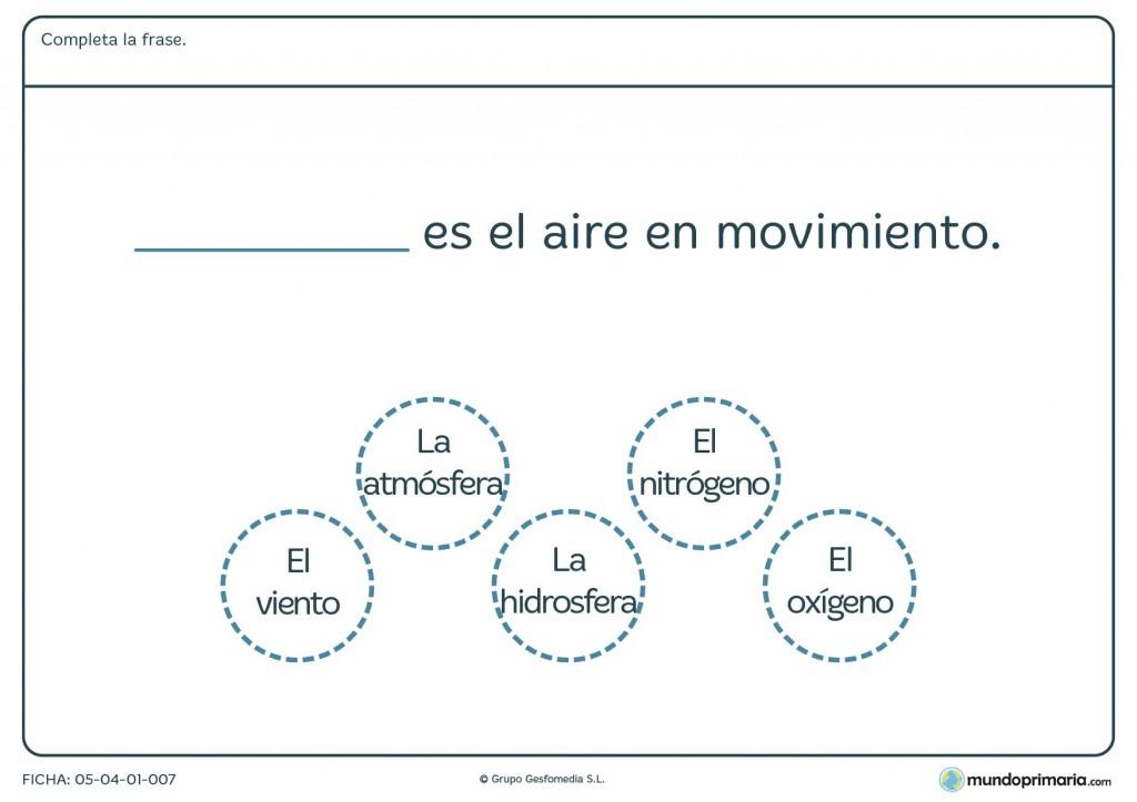 Ficha de formas del aire para primaria