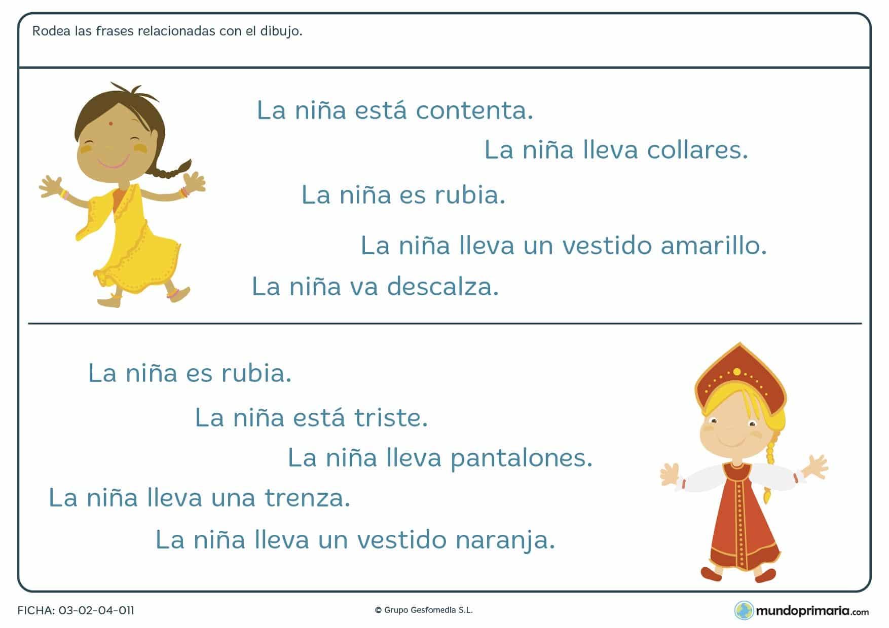 Primaria ejercicios comprensión lectora lengua primero