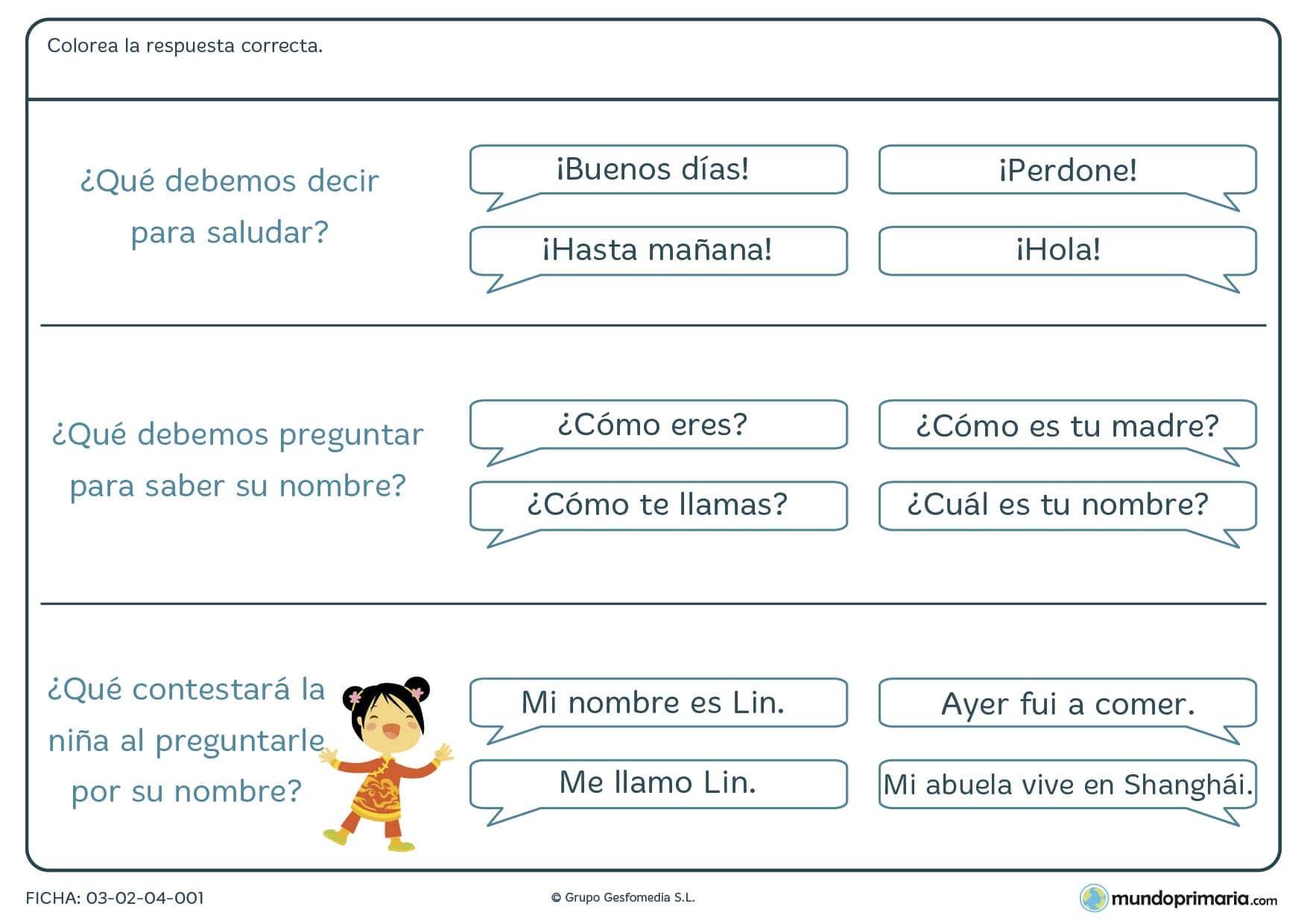 Ejercicios comprensión lectora lengua para primero primaria