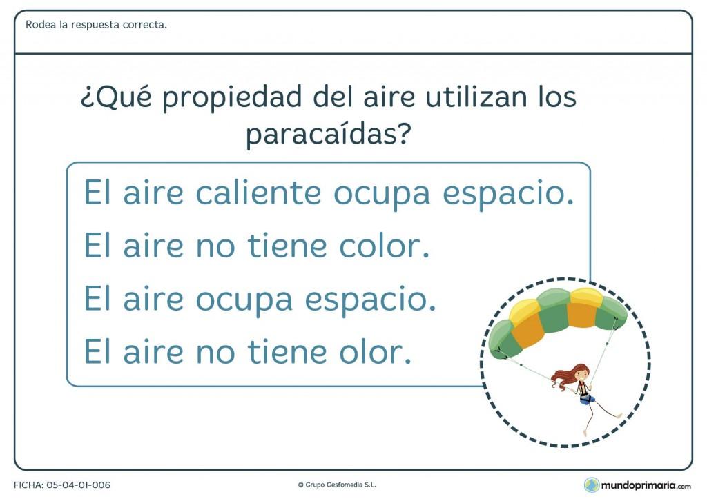 Ficha del aire y sus propiedades para primaria
