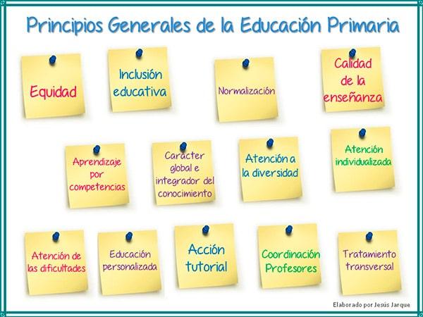 Esquema resumen de los Principios generales de la educación Primaria