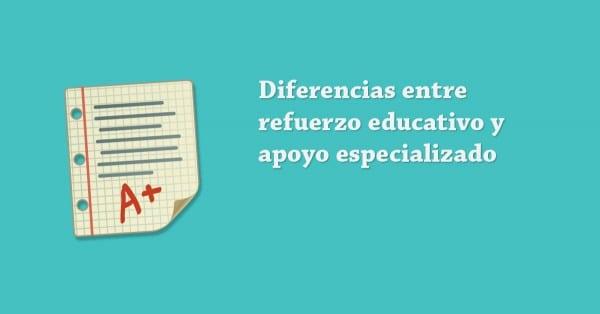Diferencia entre apoyo escolar y refuerzo educativo para niños de Primaria
