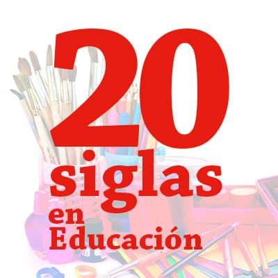 las 20 siglas en Educación Primaria