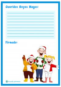 Carta a los Reyes Magos con villancicos para niños