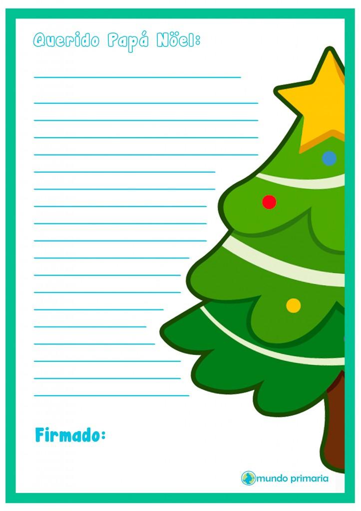 Carta para Papa Noel de niños de Primaria