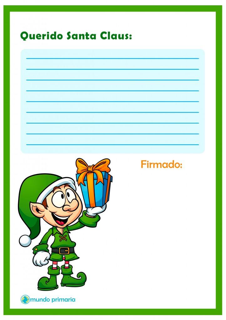 Carta descargable para escribir a Santa Claus