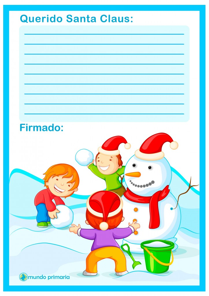 Carta de Santa Claus para imprimir