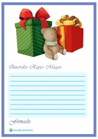 Carta regalos para imprimir