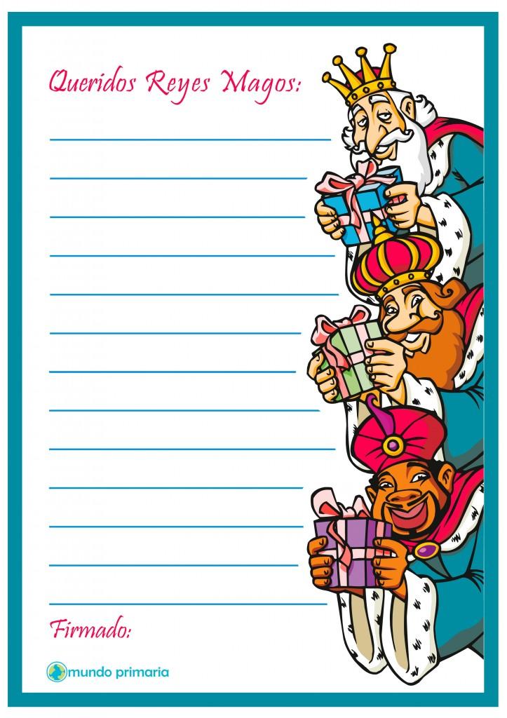 Carta con dibujos de los Reyes Magos