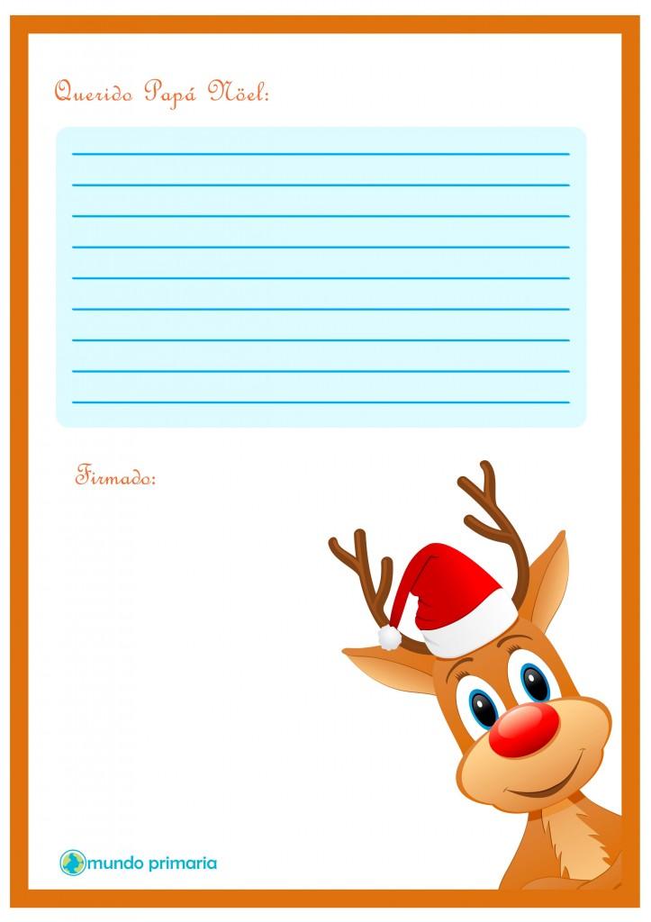 Carta de Rudolf para enviar a Papa Noel