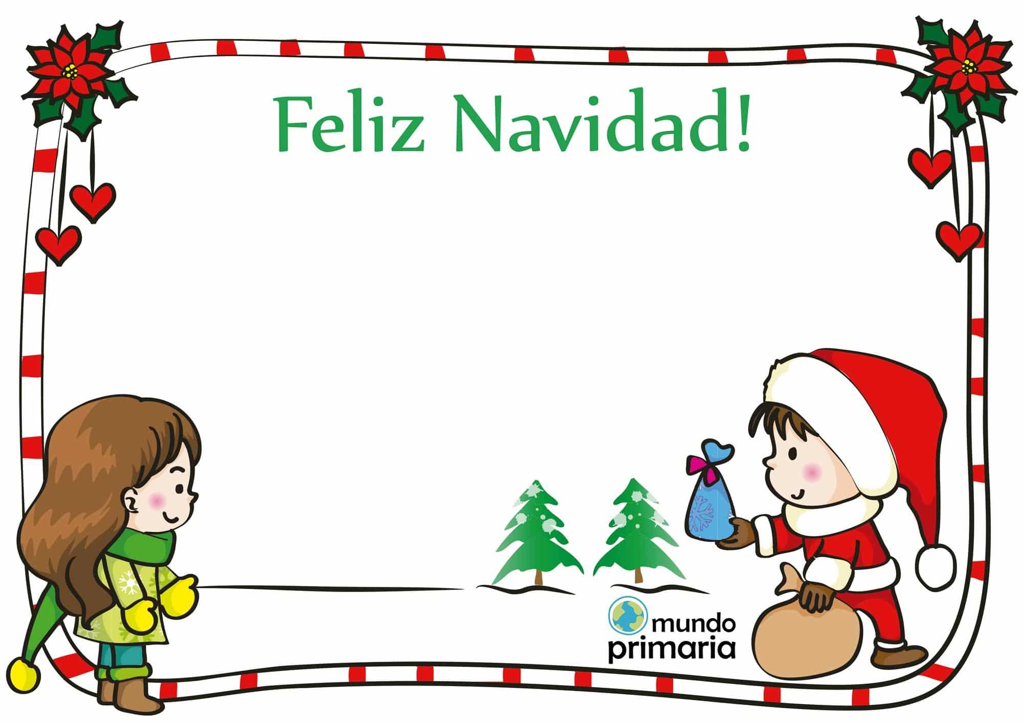 postal de dibujos de Navidad