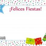 postal navideña con dibujos para niños