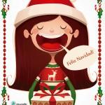postal de Navidad para niños