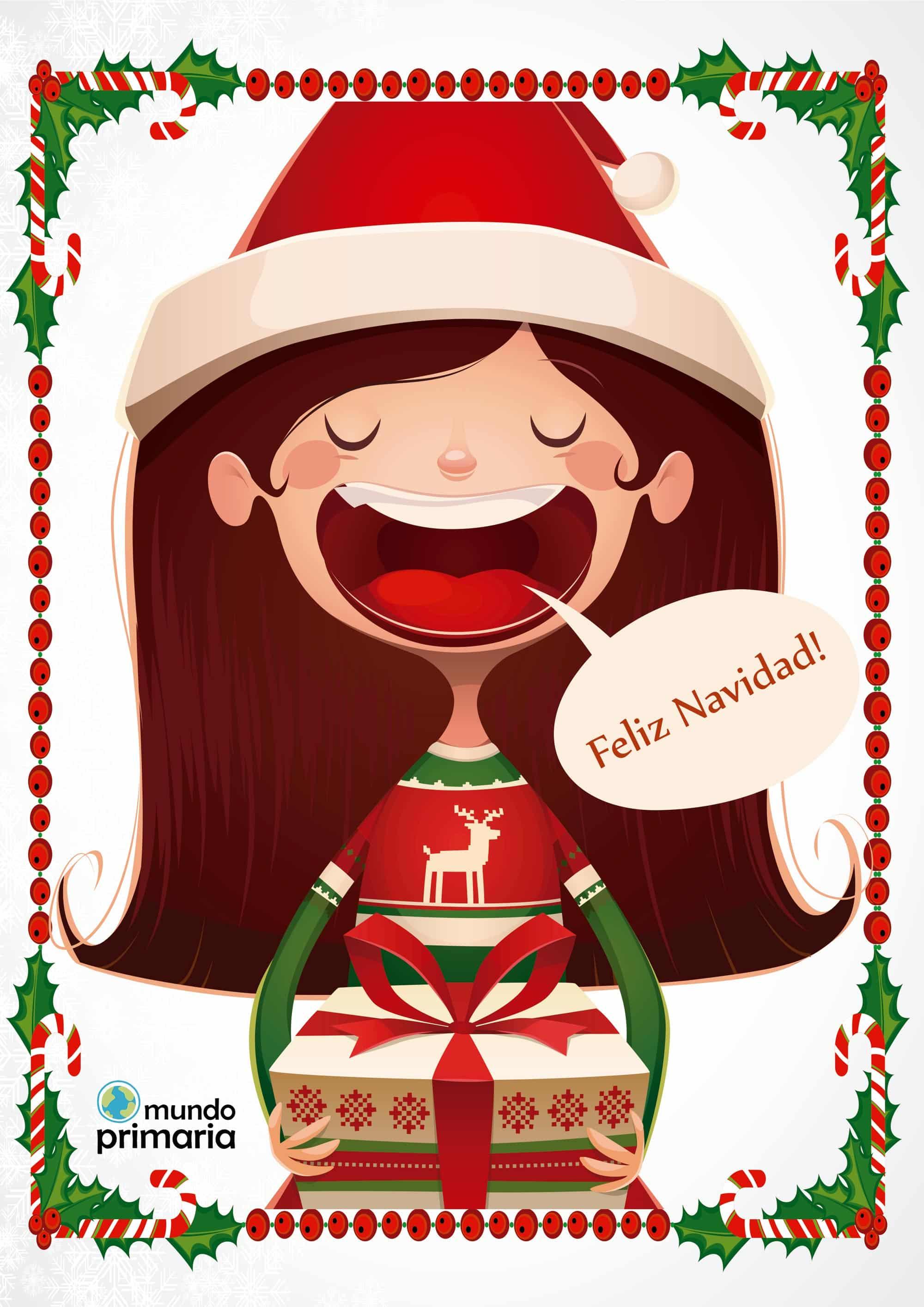 Tarjetas de navidad con dibujos para imprimir - Dibujo de navidad para ninos ...