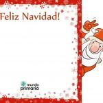 postal de Navidad para niños de Primaria