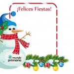 postal para imprimir de Navidad para niños