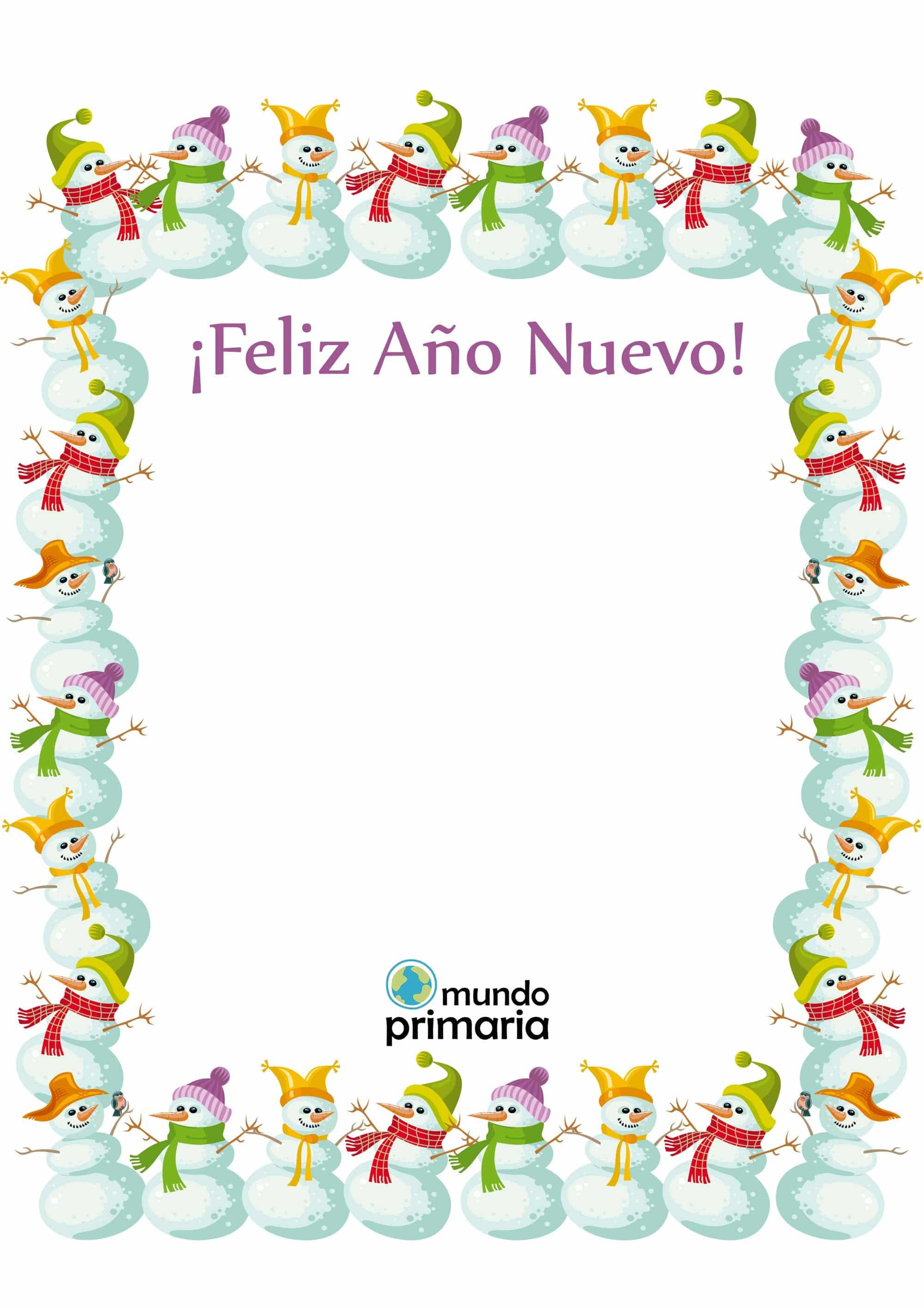 Crisma de Navidad para imprimir con dibujos para niños
